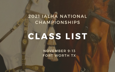 2021 Nationals Class List